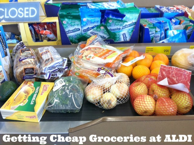 Getting cheap groceries at ALDI