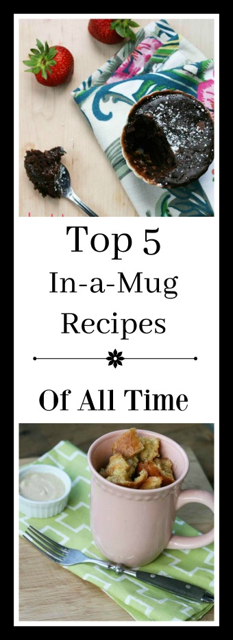 The Top 5 In-a-Mug recipes of all time. Click through for all 5 recipes!