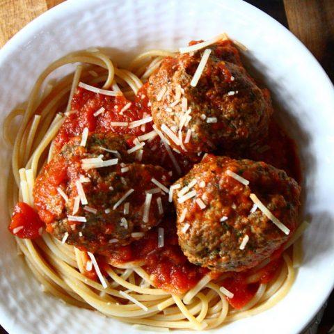 Pesto-Parmesan meatballs recipe