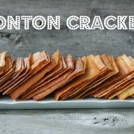 Wonton crackers recipe from Cheap Recipe Blog