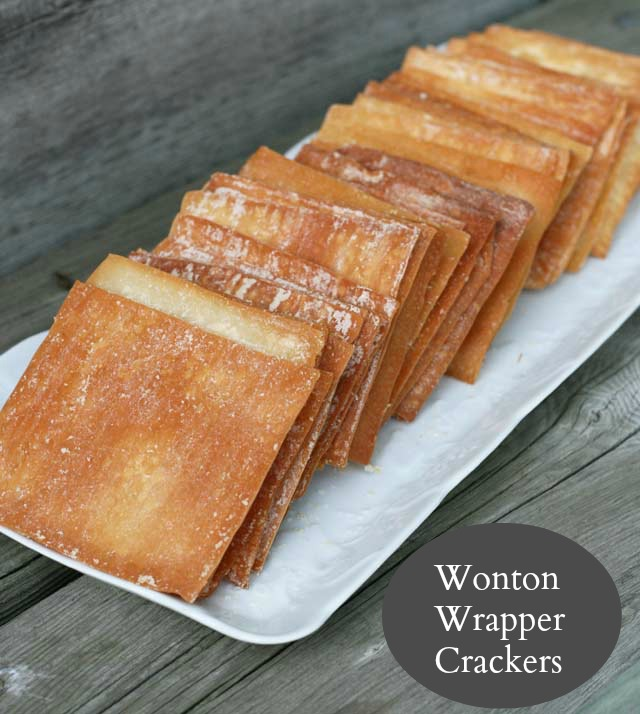 Wonton wrapper crackers recipe from Cheap Recipe Blog