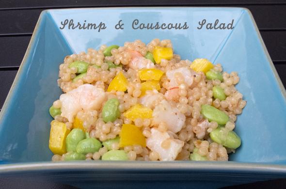 Shrimp and couscous salad