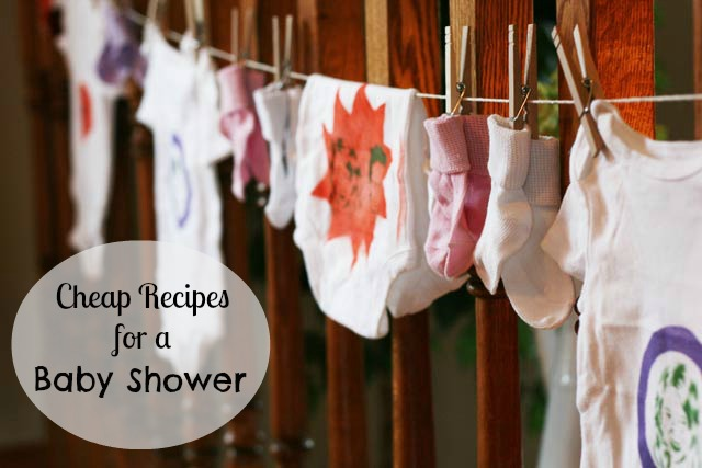 Cheap recipes for a baby shower. Tips to save you money while still throwing a fabulous party. Repin to save.