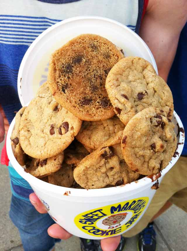 A bucket of Sweet Martha's Cookies. Click through for the COPYCAT recipe!