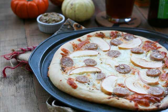 Oktoberfest pizza recipe, from Cheap Recipe Blog