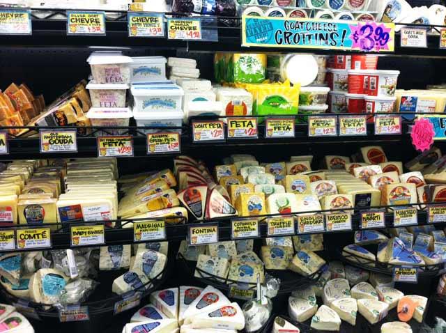 Buying cheese at Trader Joe's