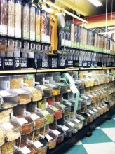 The bulk section at Whole Foods is a great place to get deals on groceries