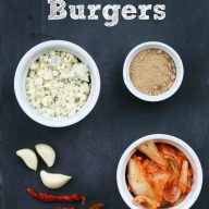 Kimchi burgers, from Cheap Recipe Blog