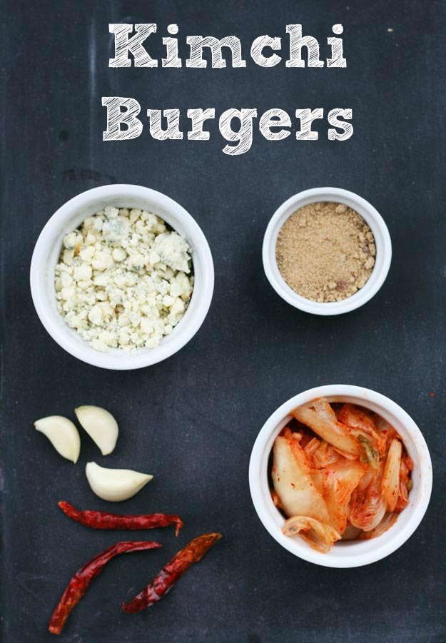 Kimchi burgers, from Cheap Recipe Blog