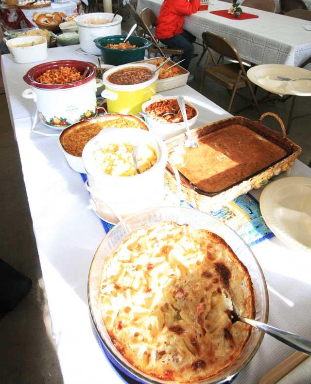 A Minnesota/South Dakota church potluck dinner