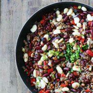 Three bean hotdish recipe, from Cheap Recipe Blog