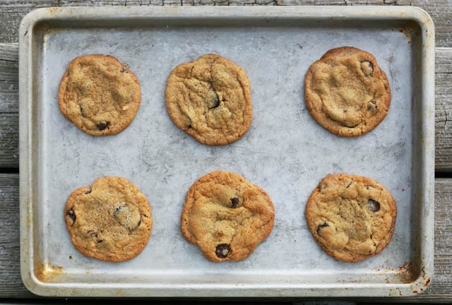 Homemade peanut butter is used to make these peanut butter cookies, from Cheap Recipe Blog