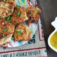 Mango chicken wontons, from Cheap Recipe Blog