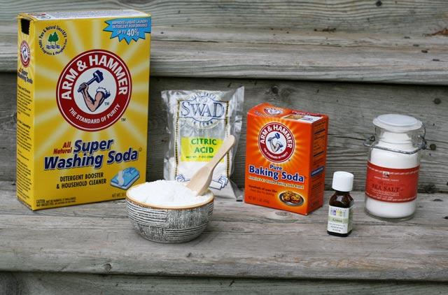 ingredients for homemade dishwasher detergent