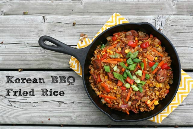 Korean BBQ fried rice recipe, from Cheap Recipe Blog