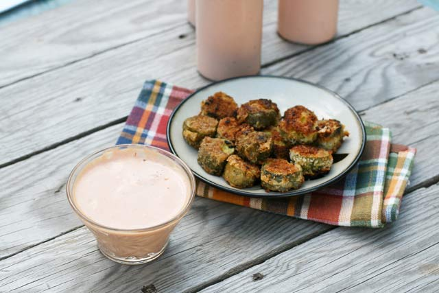 All-purpose dipping sauce, served with fried pickles