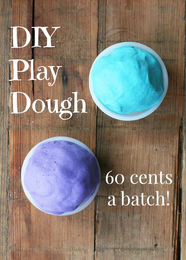 DIY play dough recipe, from Cheap Recipe Blog