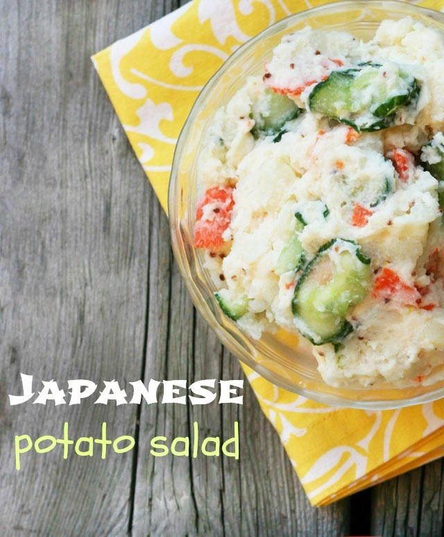 Japanese potato salad. A unique and totally delicious spin on classic potato salad. Click through for recipe!