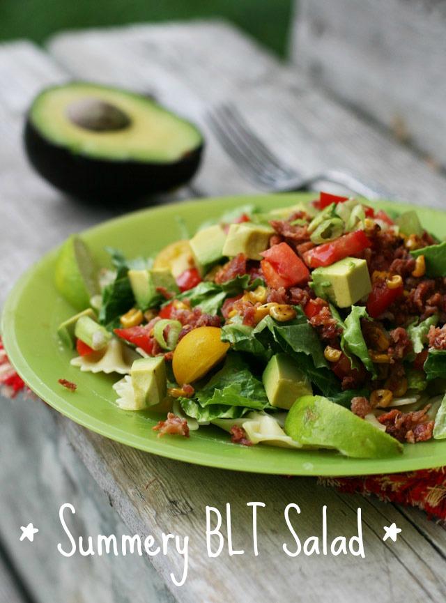 Summery BLT salad recipe, from Cheap Recipe Blog