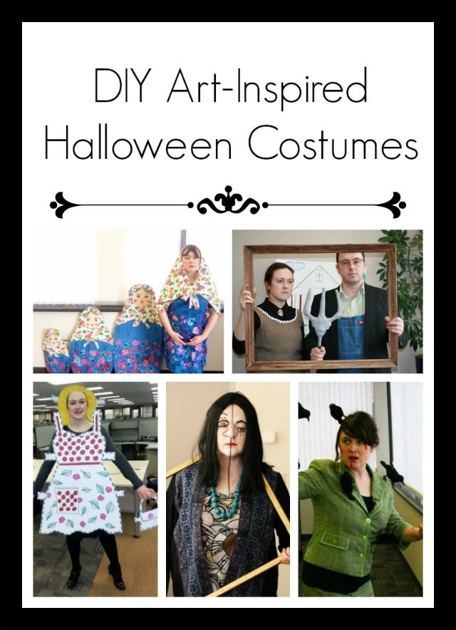 Art-inspired DIY Halloween costumes. Click through for all photos!