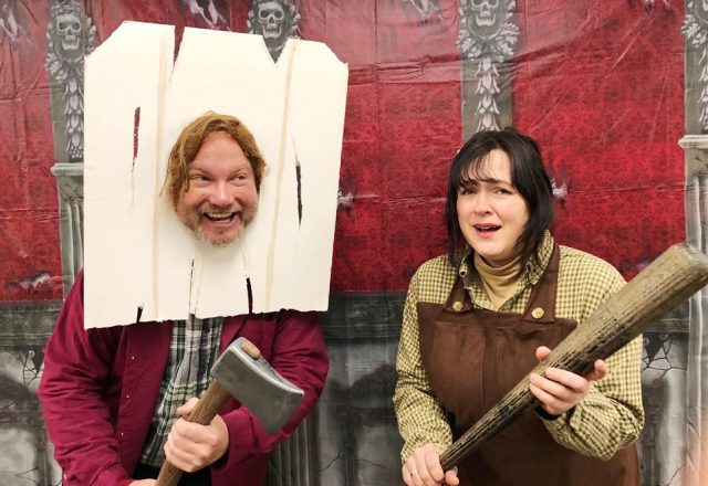 Jack and Wendy Torrance costume from The Shining: Get more Halloween costume ideas here!
