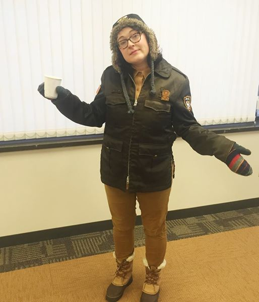 Marge Gunderson costume, inspired by the movie Fargo. Click through for more creative Halloween costume ideas!