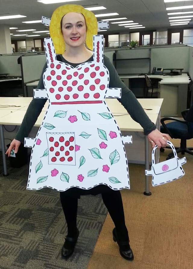 Paper doll costume idea for #Halloween #costume