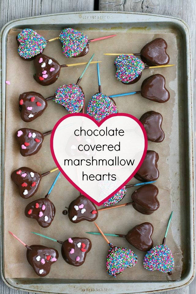 Chocolate-covered marshmallow hearts (with homemade marshmallows!) Repin to save.