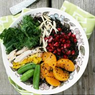 Fruited wild rice bowls. They're healthy! Click through for recipe!