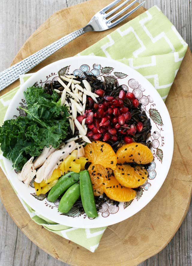 Fruited wild rice bowls. Healthy. Repin to save!