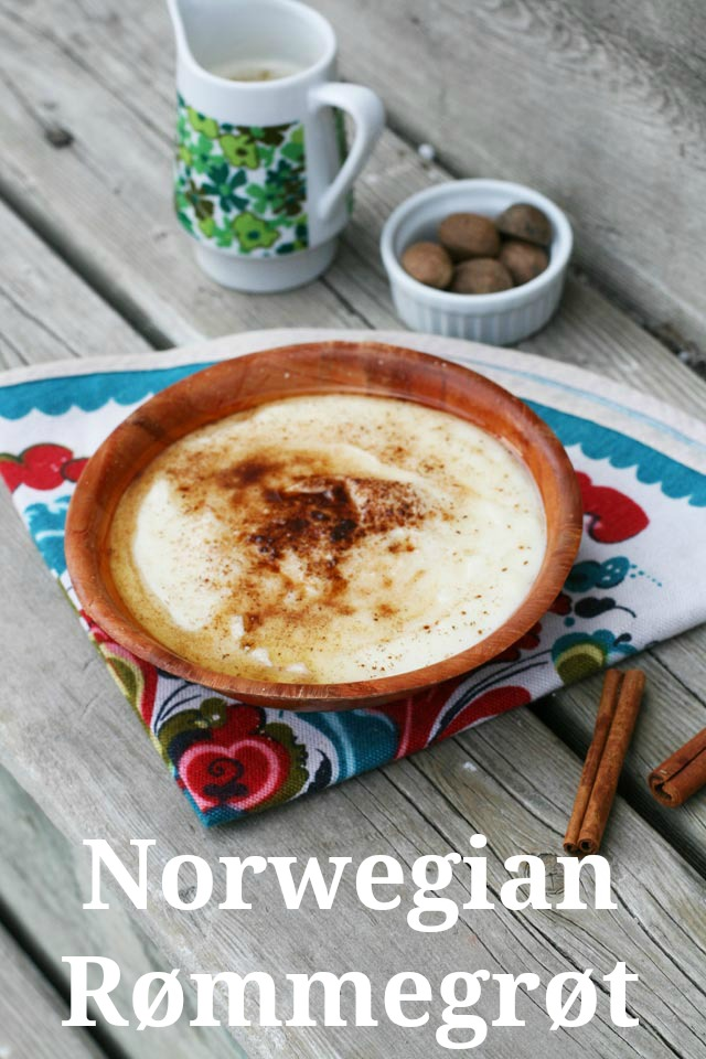 Norwegian rømmegrøt recipe. A subtly sweet, creamy homemade pudding that is easy and cheap to make. Click through for instructions!