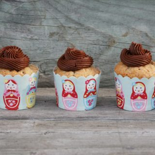 Moist Banana Cupcakes With Chocolate Buttercream Frosting