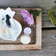 How to make solid perfume out of perfume samples.