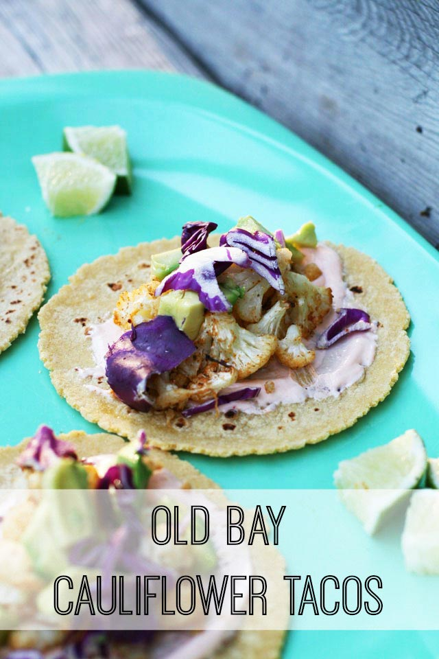 Old Bay Cauliflower Tacos - A vegetarian taco that is hearty and flavorful! Click through for details.