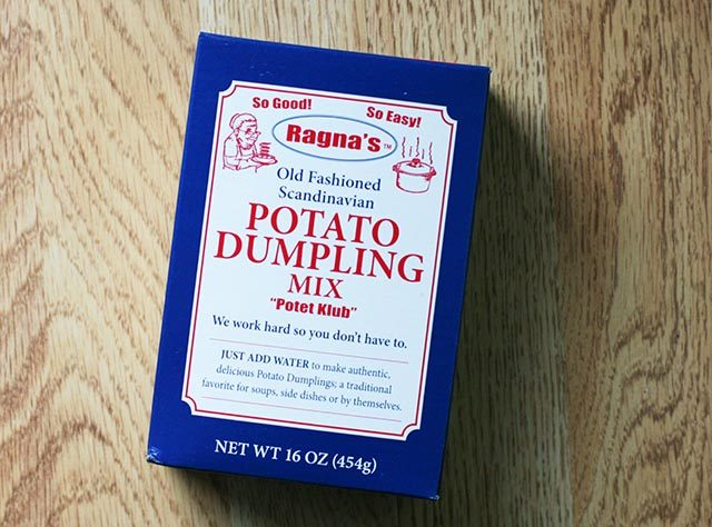 Potato dumpling mix. An alternative way to make potet klub. Click through for Norwegian recipe.