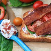 BLTs With Bacon Mayonnaise
