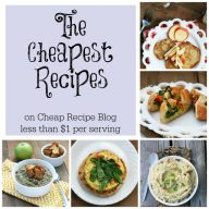 The cheapest recipes on Cheap Recipe Blog. These are the best of the best! Click through for all recipes.
