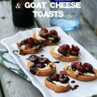 Sauteed cherry and goat cheese toasts. A fancy yet crazy easy appetizer!