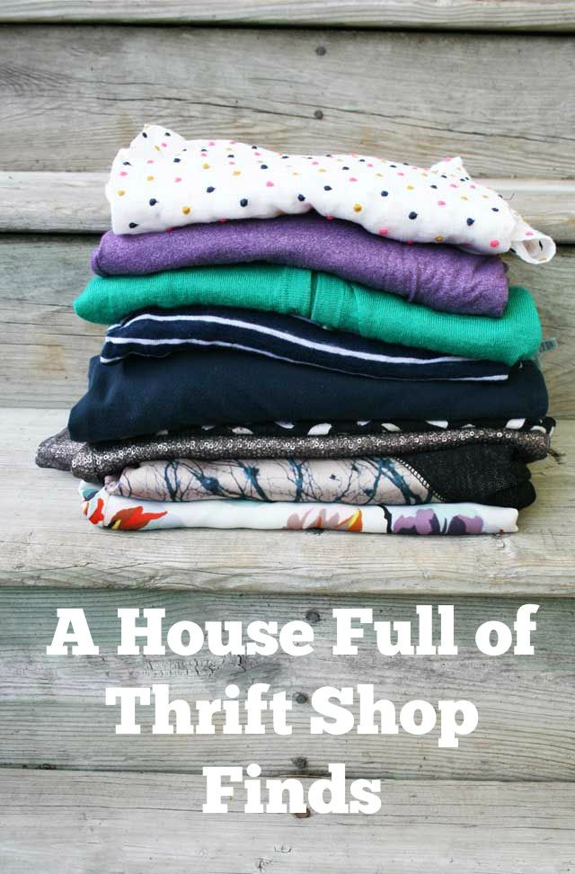 A House Full of Thrift Shop Finds: Items I have purchased at thrift shops over the years.