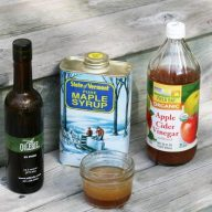 Make a simple vinaigrette out of gourmet olive oil and a few other ingredients.