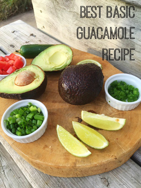 The best basic (and easy!) guacamole recipe.
