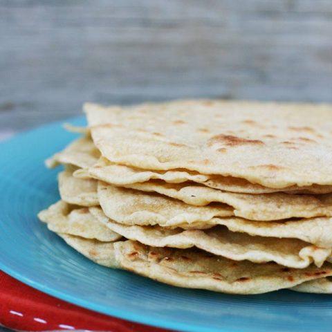 Homemade tortillas, made with einkorn flour. Easy to make. Click through for recipe!