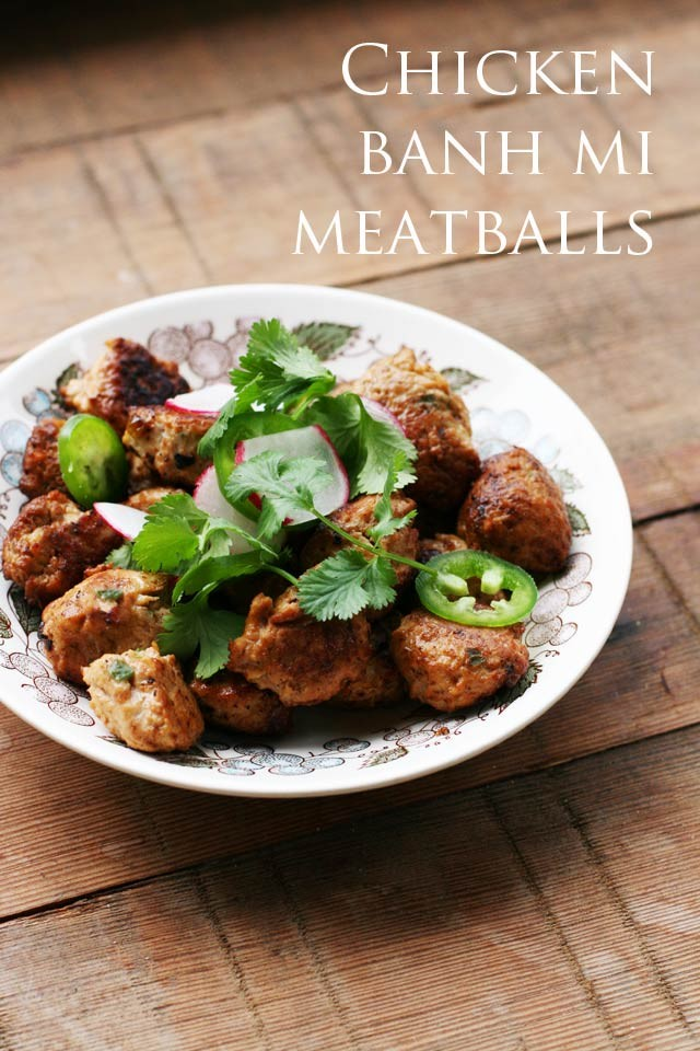 Banh mi meatballs. These are SO easy to make and super flavorful. One of my favorite dishes!