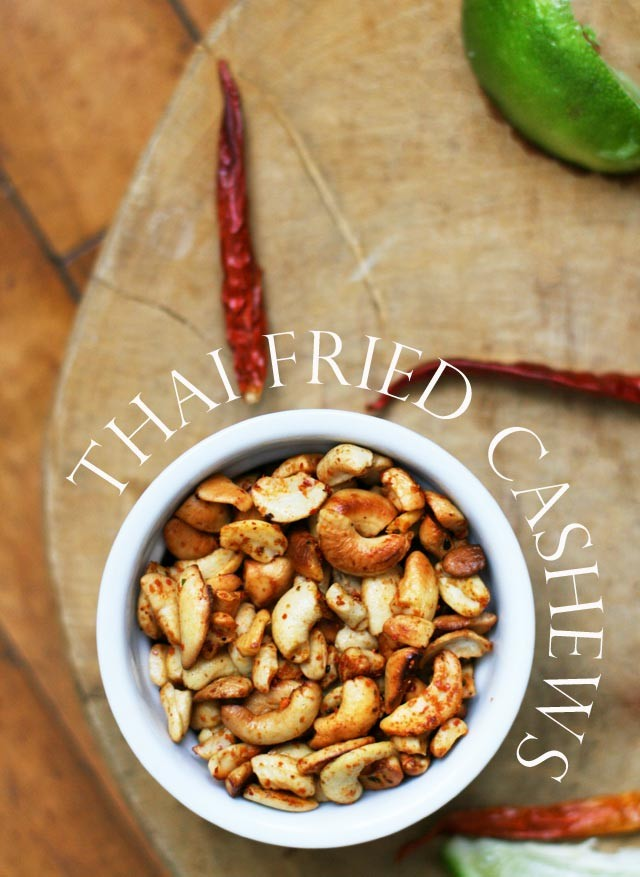 Thai Fried Cashews: A paleo-friendly and gluten free snack that is super easy to make!