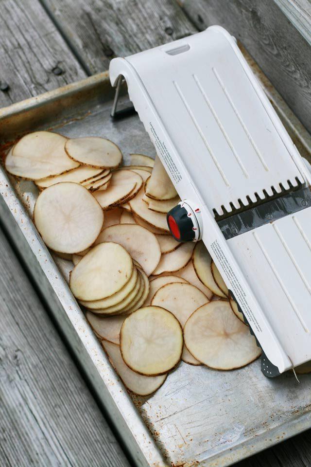 How to make homemade potato chips using a mandoline
