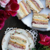 Ribbon sandwiches (similar to sandwich loaf)