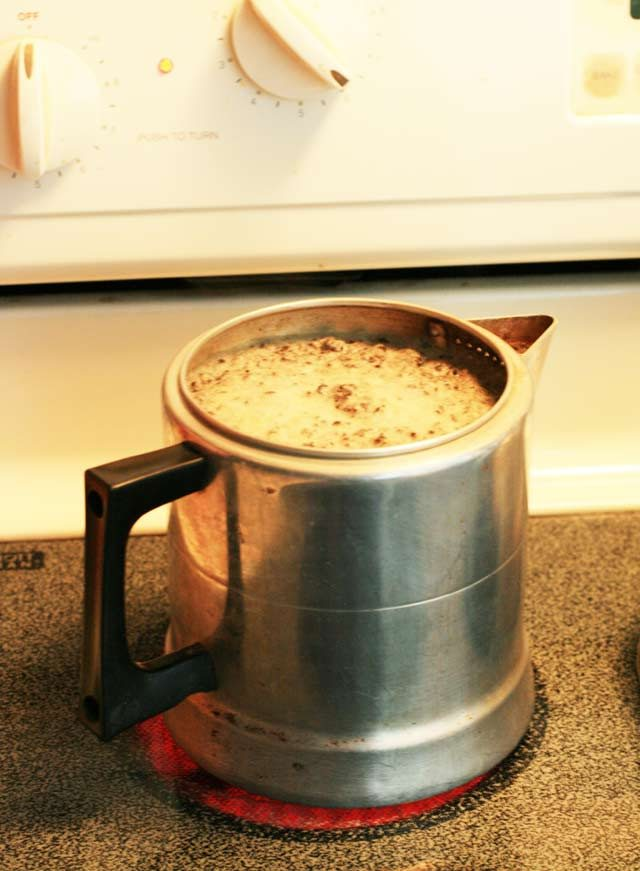Get instructions for making Norwegian egg coffee. Click through for recipe.