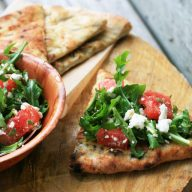 A refreshing Watermelon & Feta salad served on warm focaccia bread. Click through for recipe!