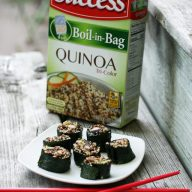 Learn how to make quinoa sushi rolls. A protein-packed alternative to traditional sushi rolls!