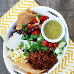 Chorizo Taco Salad: A unique alternative to traditional taco salad!